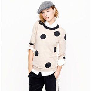 J Crew Tippi sweater in polka dot